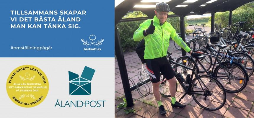 Åland Post och Bärkraft cykelkampanj