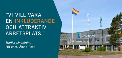 Postterminalen Sviby Åland Pride