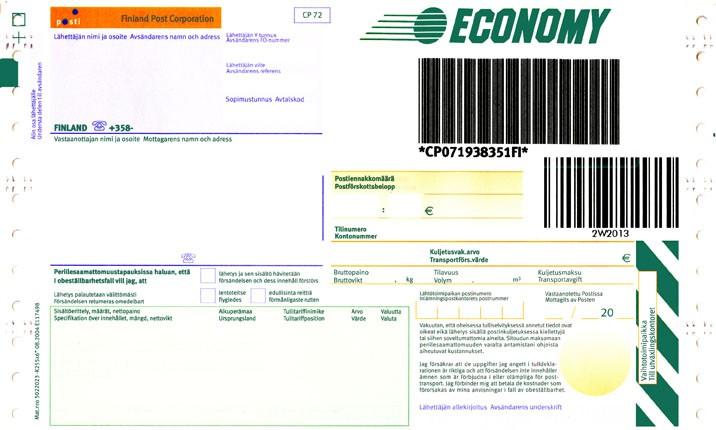 Economy-paket adresskort