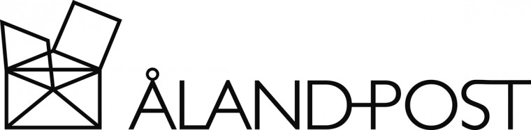 Åland Post svartvit logotyp