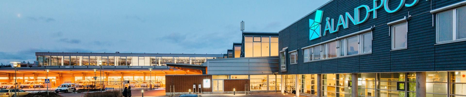 Åland Post exteriör postterminalen