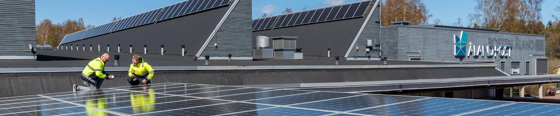 Åland Post solcellsanläggning